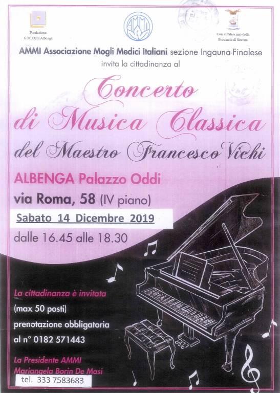 Francesco Vichi pianista concerto Albenga Palazzo Oddo