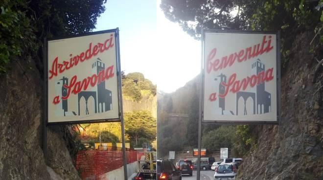 Restauro Cartello Benvenuti Savona