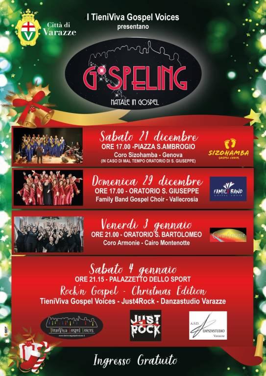 """""""Gospeling - Natale in Gospel"""" Varazze 2019 rassegna musicale"""