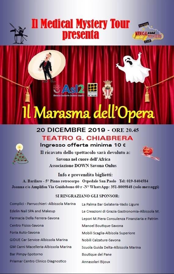 """""""Il Marasma dell'Opera"""" spettacolo Medical Mistery Tour Savona Teatro Chiabrera"""