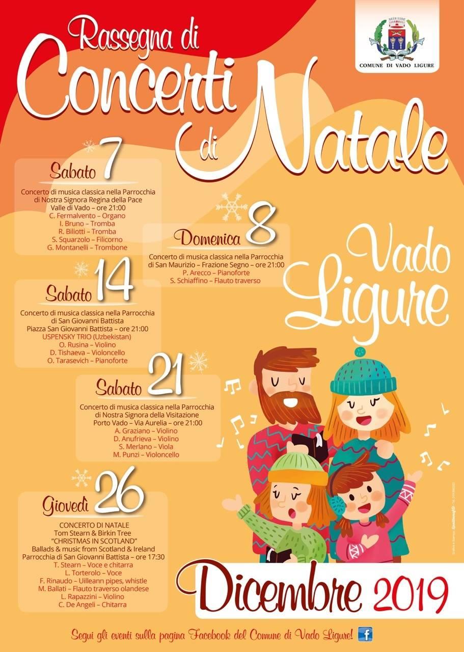 Natale 2019 Vado Ligure rassegna concerti