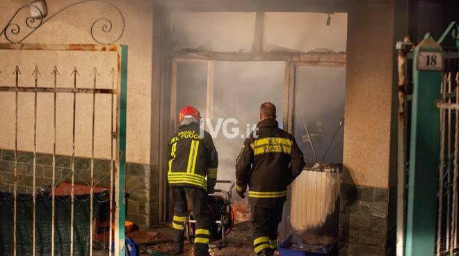 incendio pompieri Albisola
