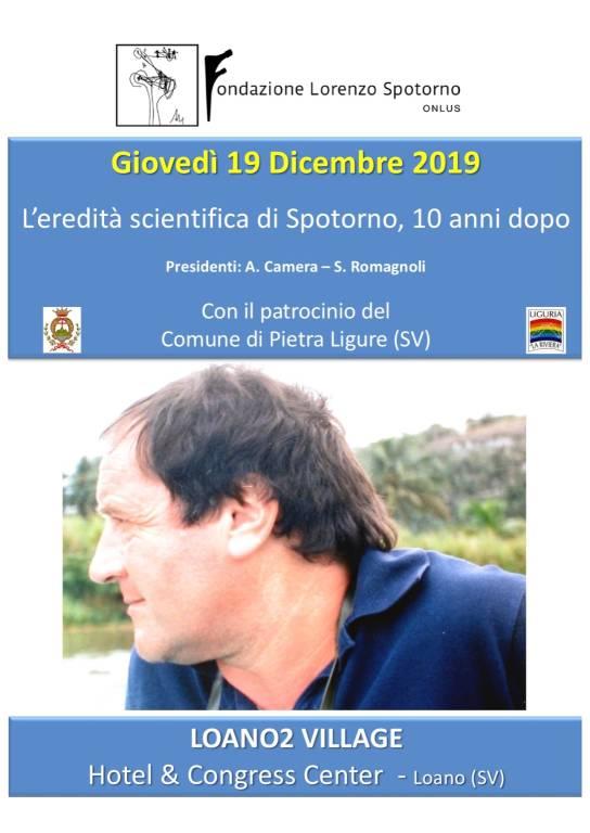 """""""L'eredità scientifica di Spotorno, 10 anni dopo"""" evento Loano"""