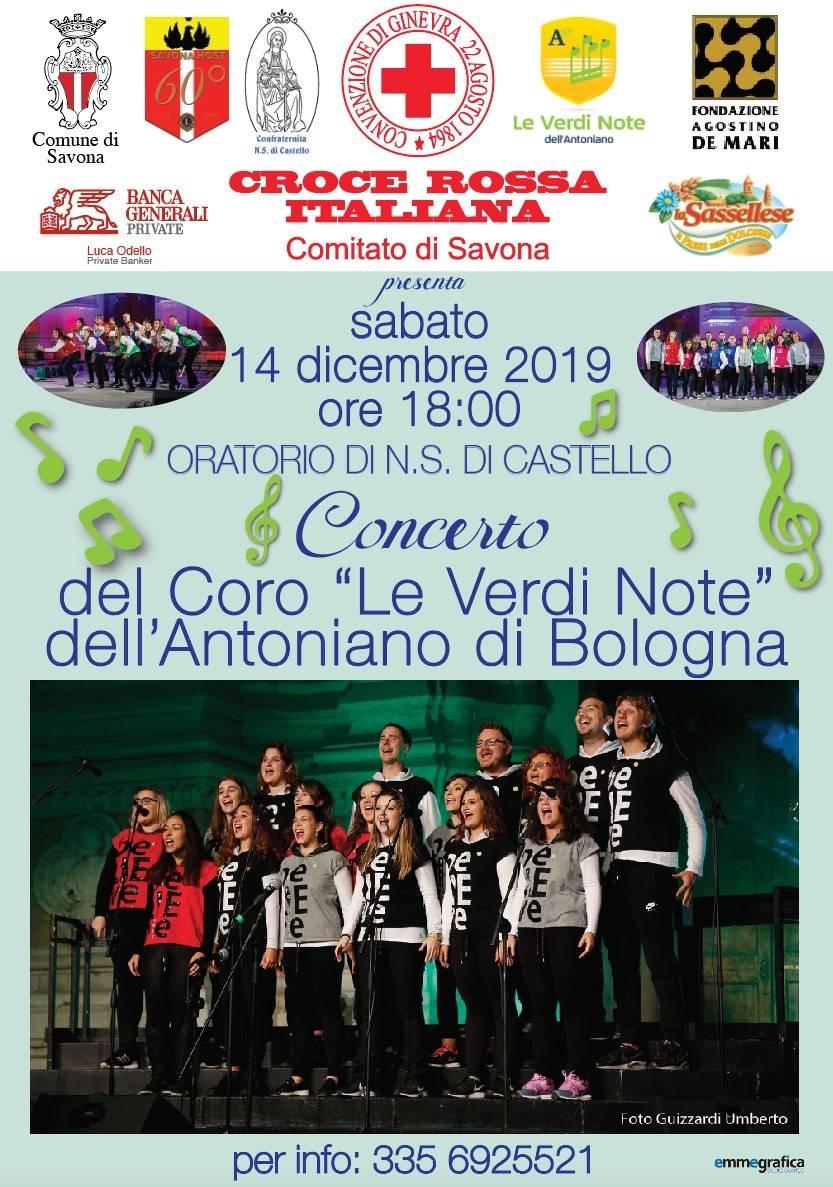Coro Le Verdi Note Antoniano Bologna concerto Savona