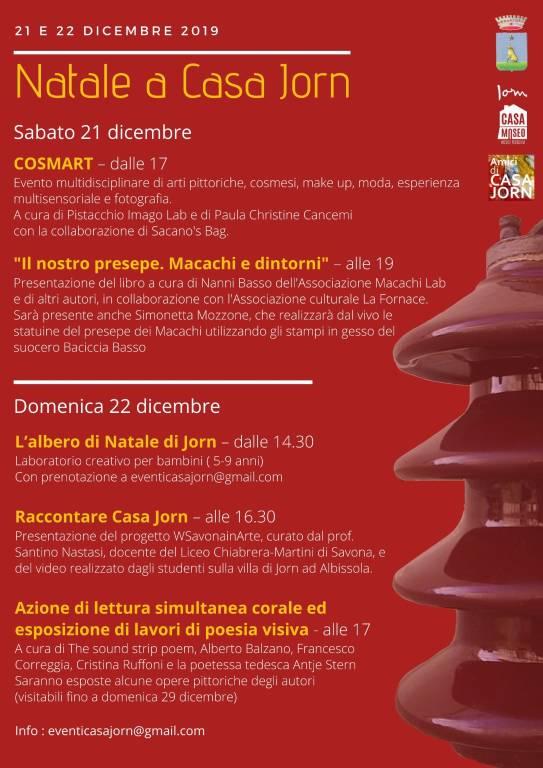 Natale a Casa Jorn 2019 Albissola Marina