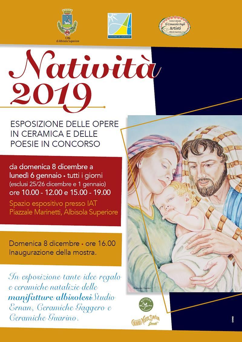 """""""Natività 2019"""" mostra ceramiche e poesie Albisola Superiore"""