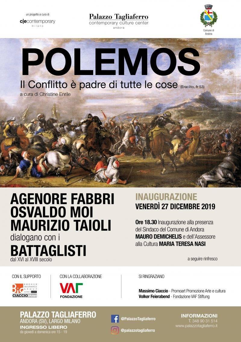 """""""Polemos"""" mostra arte antica e contemporanea Andora Palazzo Tagliaferro"""