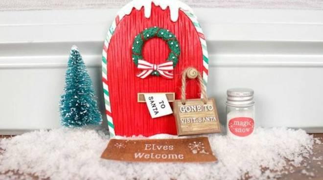 Porta di Natale in miniatura