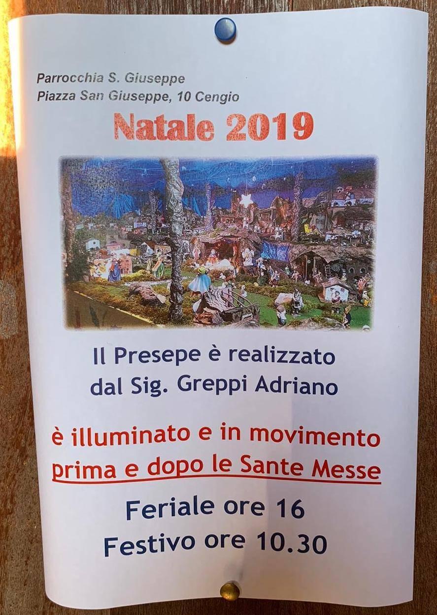 Presepe Meccanico Adriano Greppi Cengio Parrocchia San Giuseppe