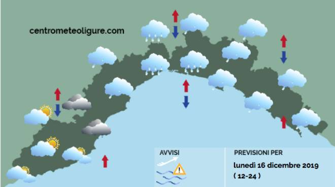 previsioni meteo 16 dicembre