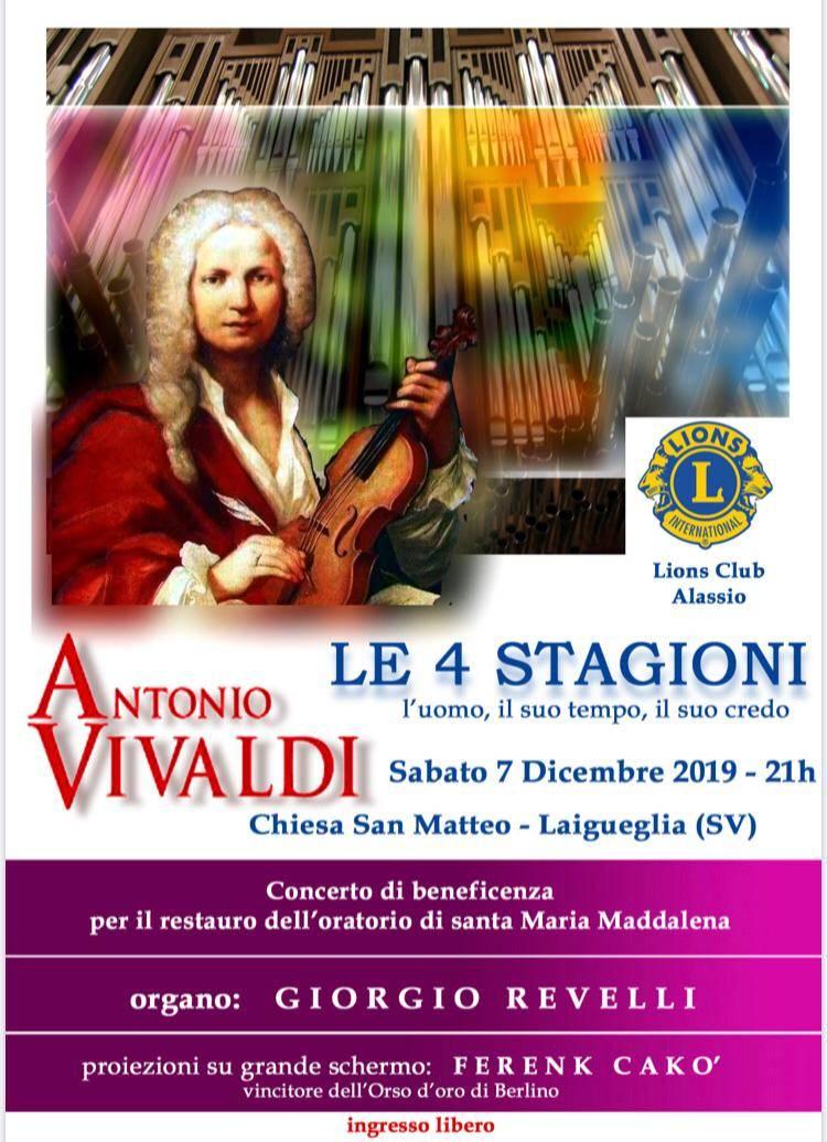 """Quattro stagioni"" Antonio Vivaldi organista Giorgio Revelli Laigueglia"