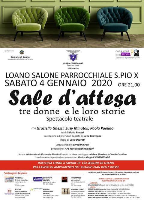 """""""Sale d'attesa"""" spettacolo teatrale Loano Parrocchia San Pio X"""