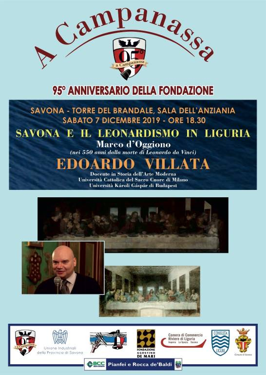"""""""Savona e il leonardismo in Liguria"""" conferenza Edoardo Villata"""