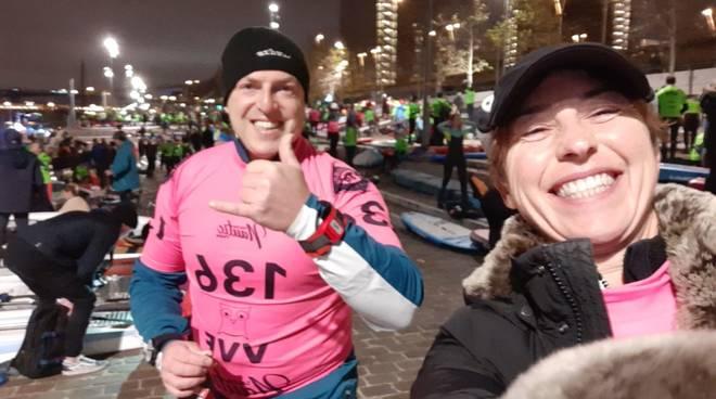 Stand up paddle: Sara Oddera e Paolo Nardini in gara a Parigi