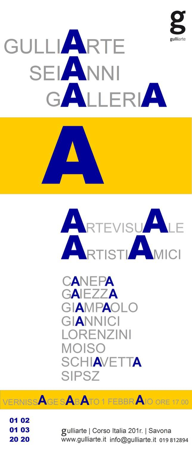 """A"" mostra collettiva pittura Savona GulliArte"