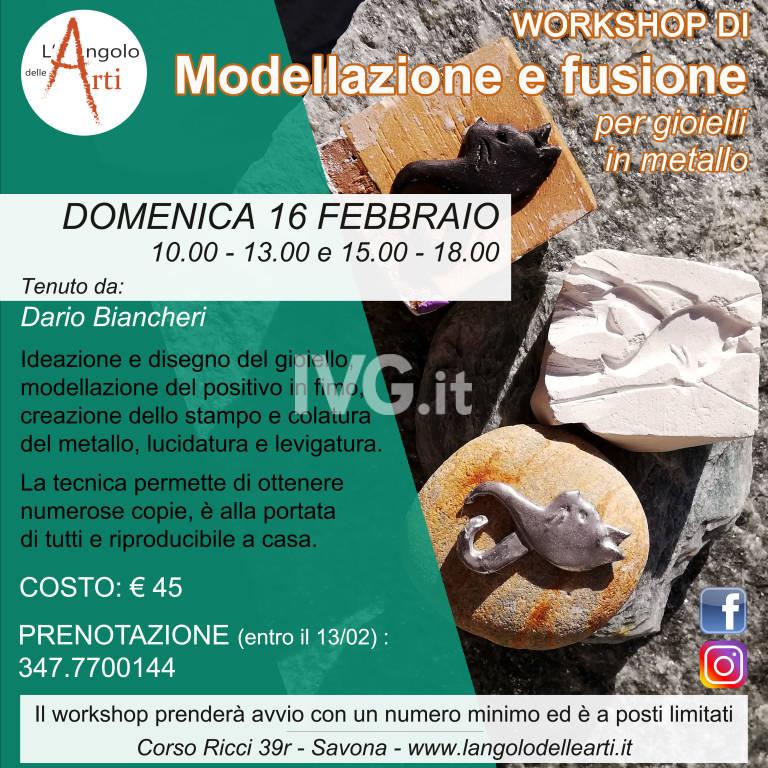 Workshop di modellazione e fusione per ciondoli in metallo
