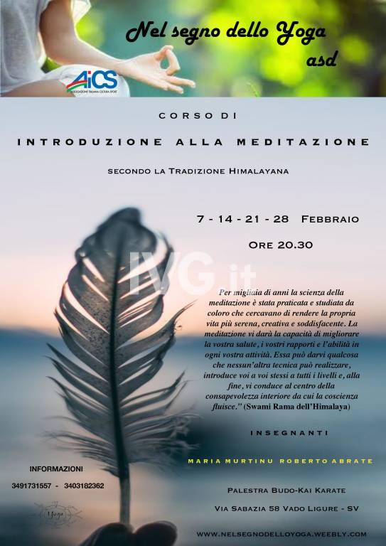 Corso di introduzione alla Meditazione - secondo la Tradizione Himalayana