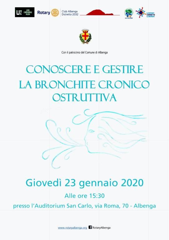 """""""Conoscere e gestire la bronchite cronica ostruttiva"""" conferenza Albenga"""