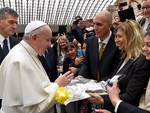Papa Francesco assessori Poggi Spio Albisola