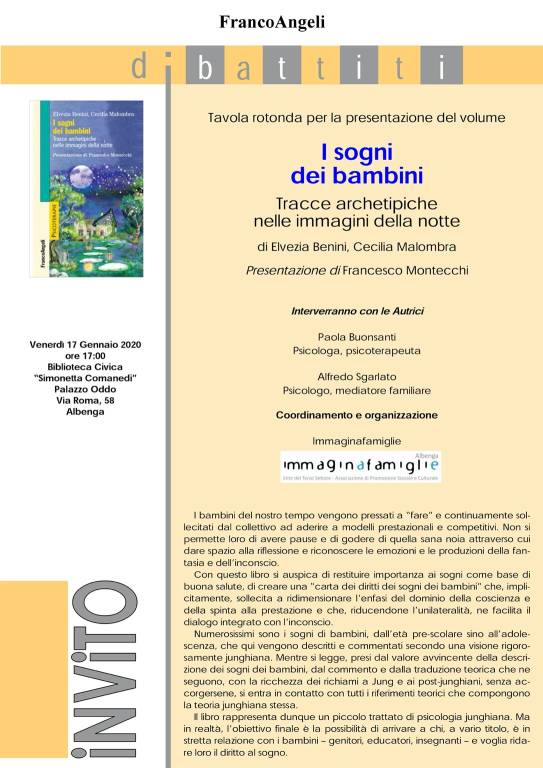 """""""I sogni dei bambini"""" presentazione libro Albenga"""