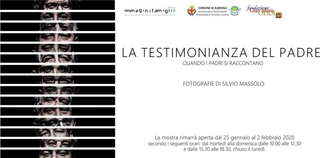"""""""La testimonianza del padre"""" fotografie Silvio Massolo Albenga"""