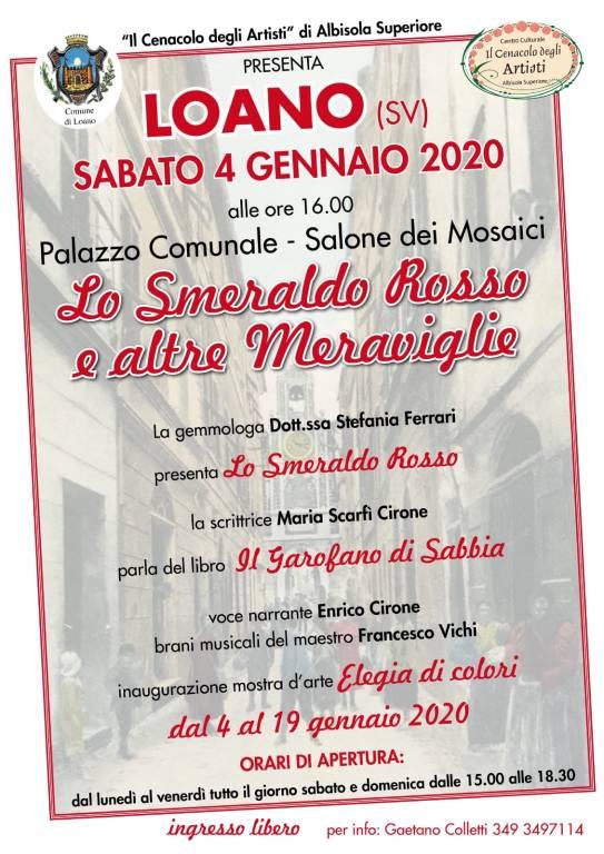 """""""Lo smeraldo rosso e altre meraviglie"""" Loano Palazzo Doria"""