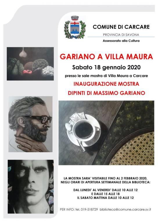 Massimo Gariano mostra dipinti Carcare Villa Maura