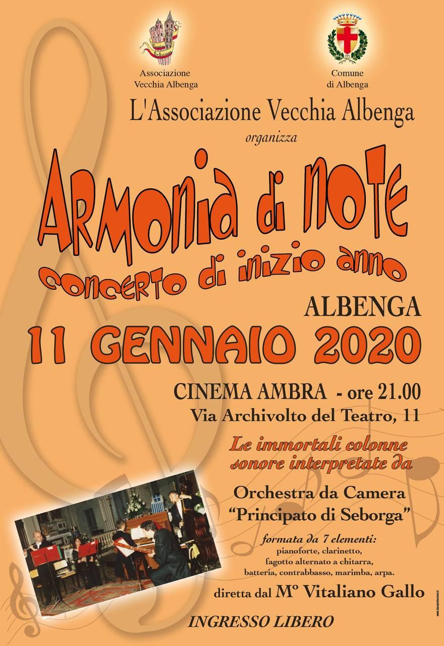 """""""Musiche da film a teatro"""" concerto Albenga Orchestra """"Principato di Seborga"""""""