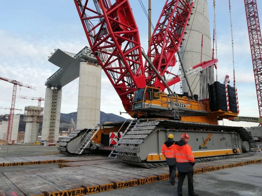 Nuovo ponte, cantiere impalcato 20 gennaio
