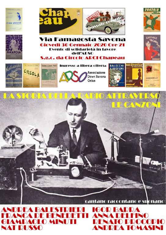"""""""Perché l'hai fatto Guglielmo? Dicesi Marconi"""" spettacolo teatro canzone Savona"""