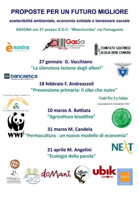 """""""Proposte per un futuro migliore"""" conferenze scienziati associazioni savonesi"""