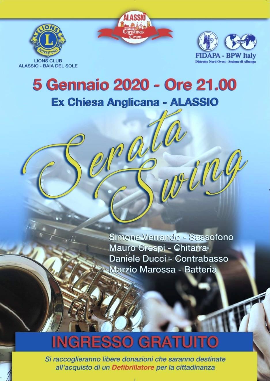 """Serata Swing"" ex Chiesa Anglicana Lions Club Alassio e FIDAPA Albenga"