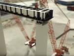 simulazione delle operazioni di varo impalcato metallico nuovo ponte