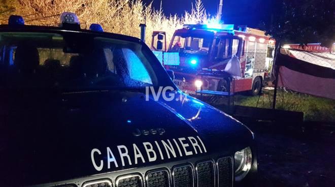 carabinieri Vvff notte vigili del fuoco
