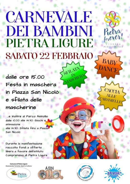 Carnevale dei Bambini 2020 Pietra Ligure Parco Natura Asinolla