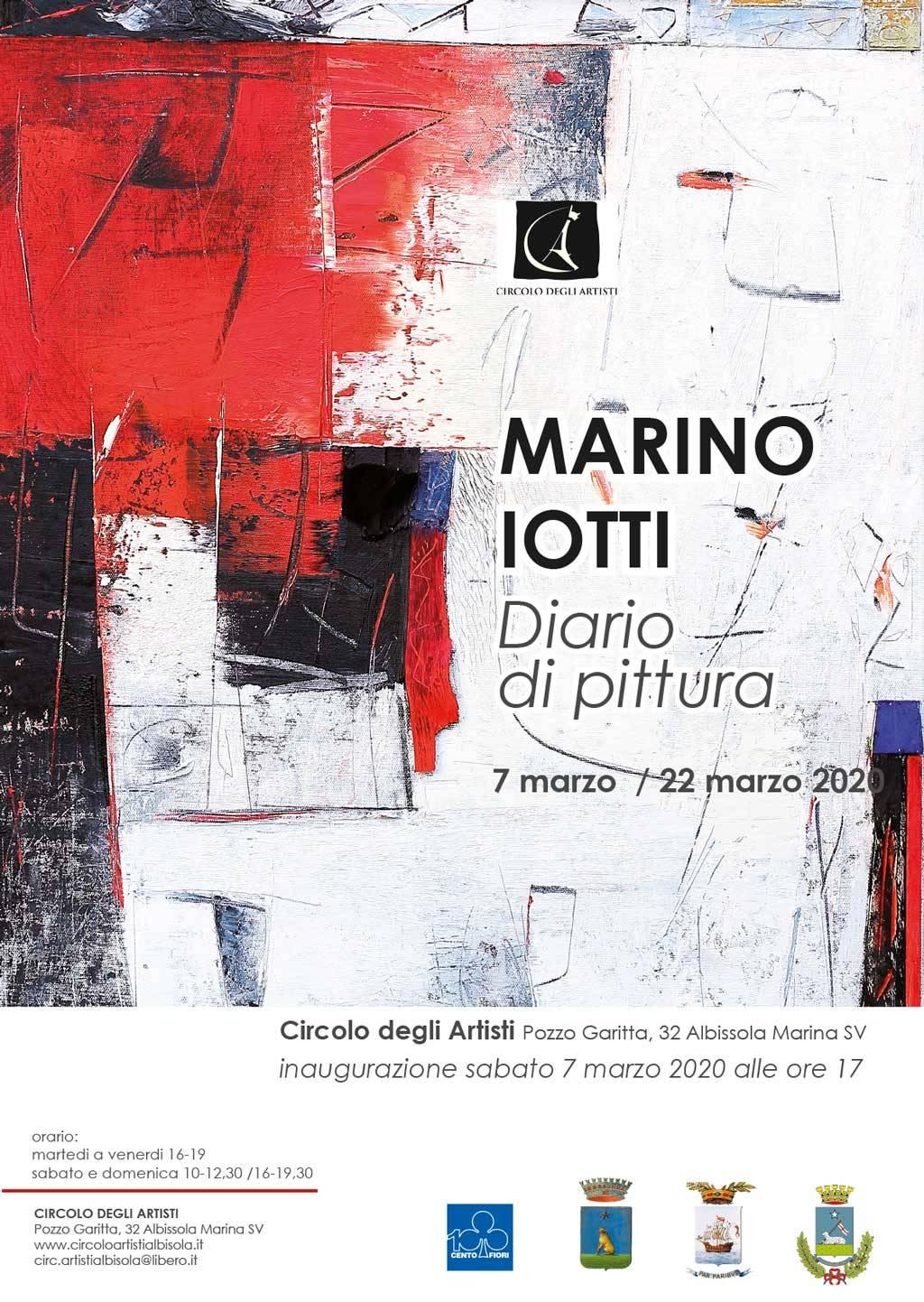 """""""Diario di pittura"""" mostra Marino Iotti Albissola Marina Circolo degli Artisti"""