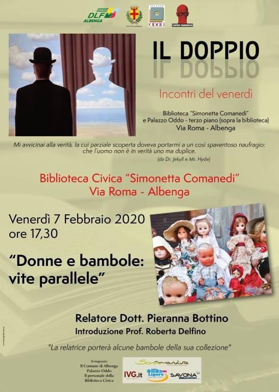 """""""Donne e bambole: vite parallele"""" conferenza Pieranna Bottino Albenga"""