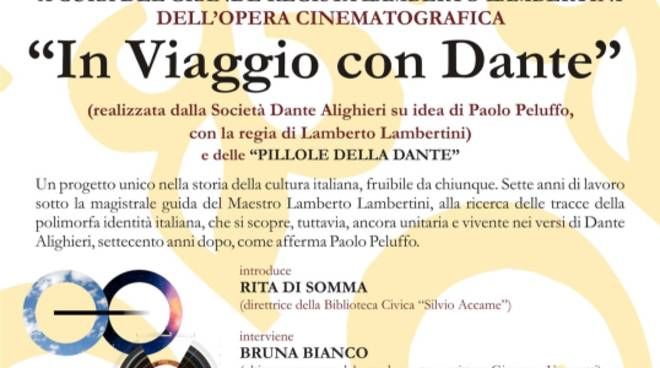 """""""In viaggio con Dante"""" presentazione opera cinematografica Pietra Ligure"""