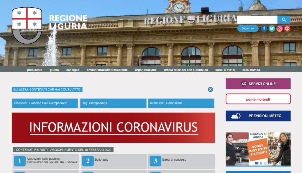 Live Journal Regione Coronavirus