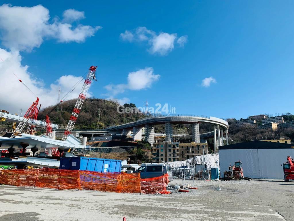 Nuovo ponte, completate tutte le pile