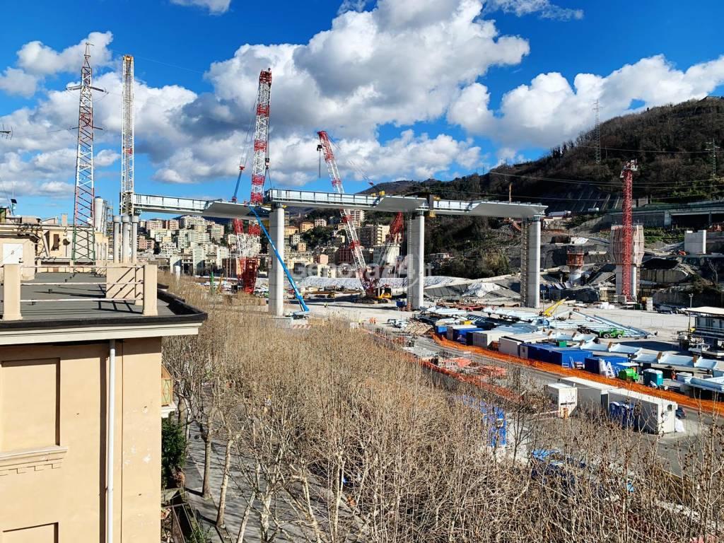 Nuovo ponte, completato il varo dell'ottavo impalcato