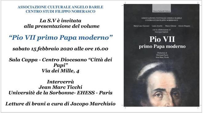 """""""Pio VII primo Papa moderno"""" presentazione libro Savona"""