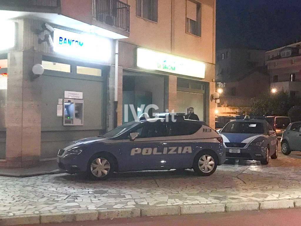 polizia notte savona rapina carige