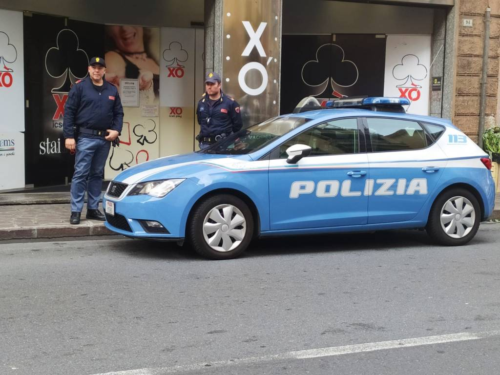 Sala giochi XO Alassio polizia