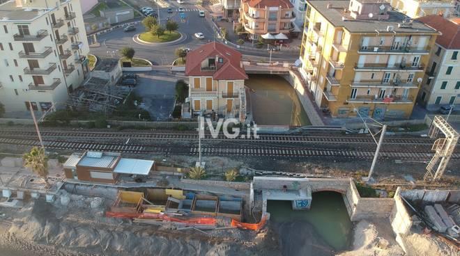 Sottopasso allagato Rio Ranzi Pietra Ligure