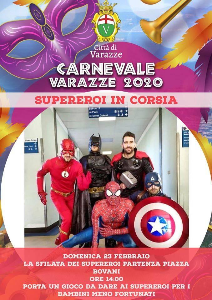 Supereroi in Corsia Varazze Carnevale 2020