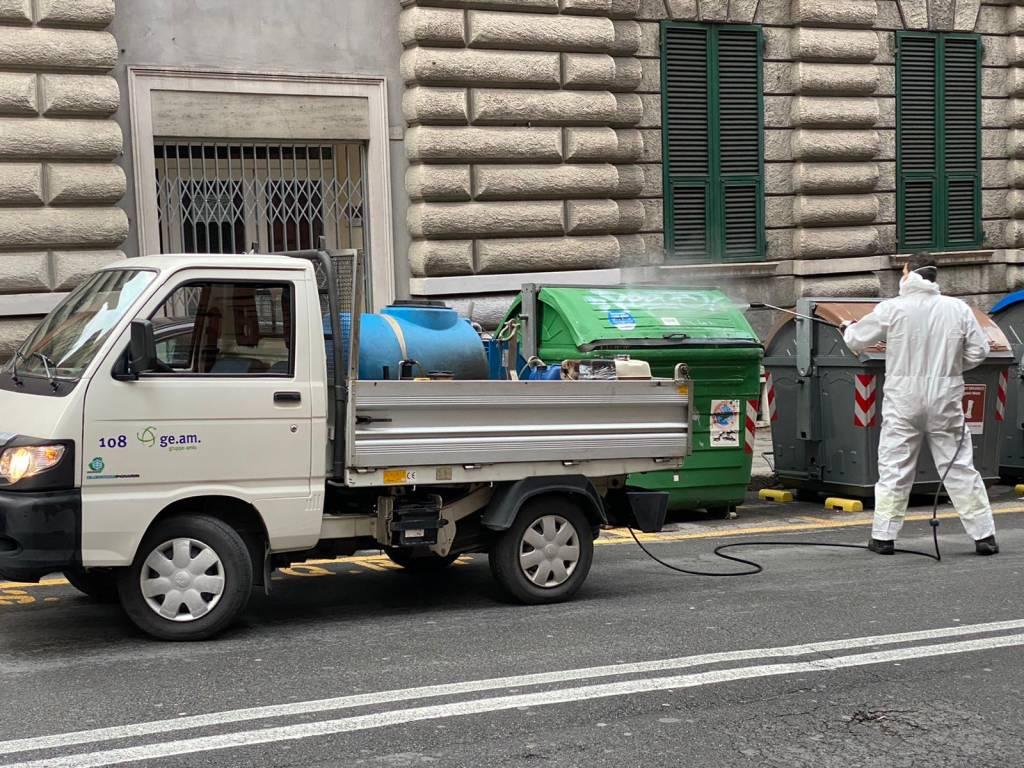 amiu coronavirus sanificazione strade pulizia