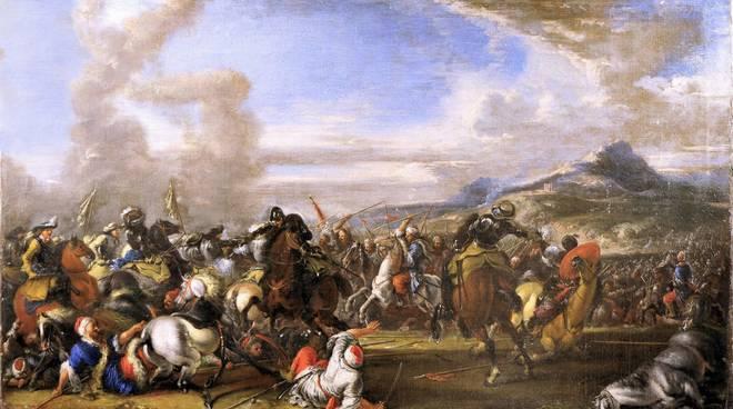 Battaglia tra cavalleria cristiana e turca