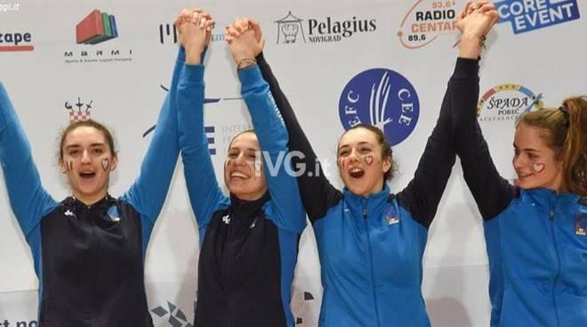 Carola Maccagno, è Orooooooooooooooooo negli Europei di Spada Femminile a squadre!