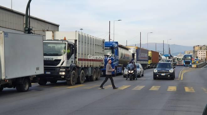 cosa camion tir lungomare canepa controlli porto